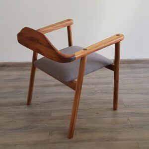 Silla comedor PRTS madera y asiento tapizado