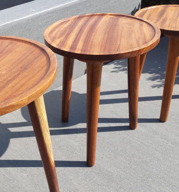 PAROTAS mesitas laterales auxiliar PRTS con madera de parota