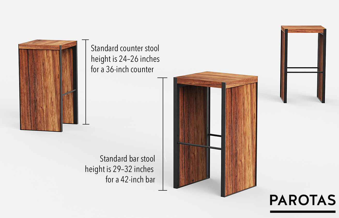 Choosing The Perfect Height For Your Bar Counter Stools Parotas