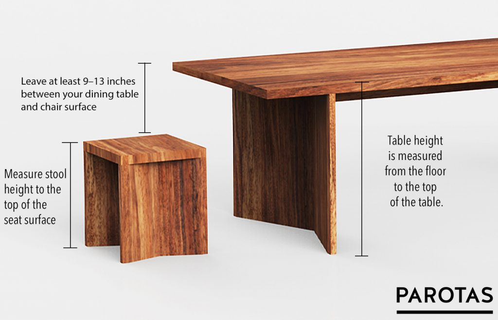 List Of Standard Table Chair Heights, Dining Room Table Height
