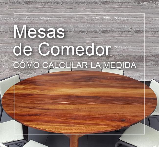 calcular medida mesa comedor