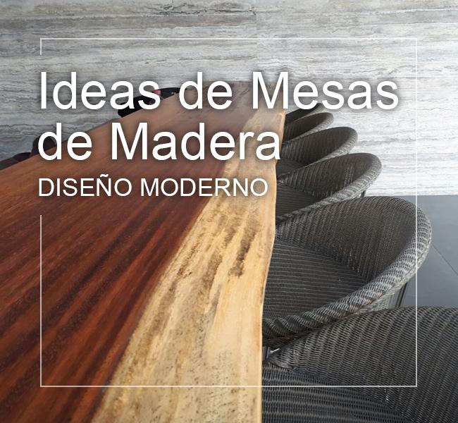 ideas mesas madera modernas