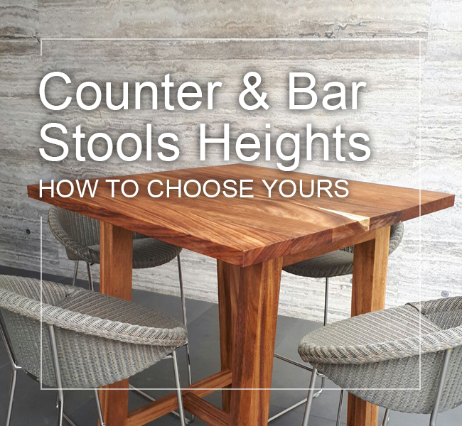 standard counter bar stool heights