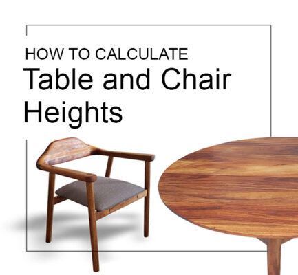 standard dining table chair heights