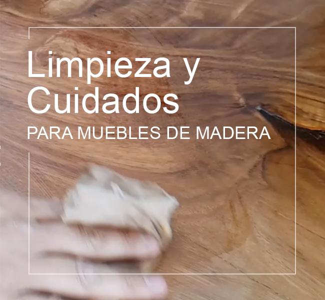 Limpieza y ciudados para muebles de madera