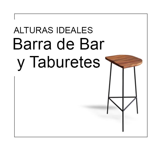alturas barras bar taburetes ideales