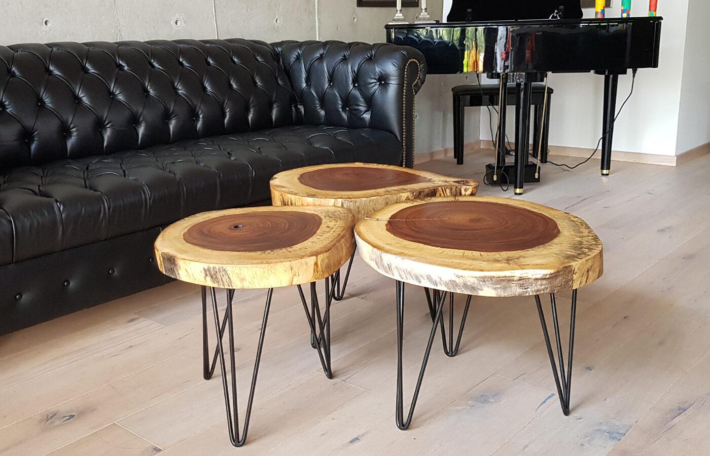 mesas de centro - mesitas - parota
