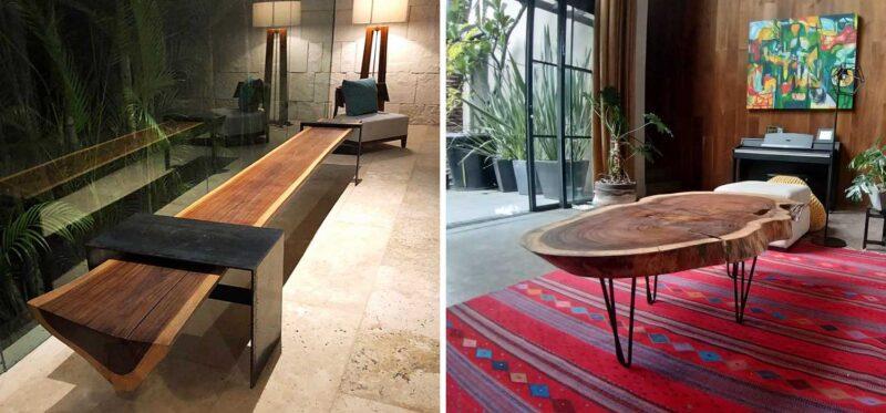 modern parota furniture design