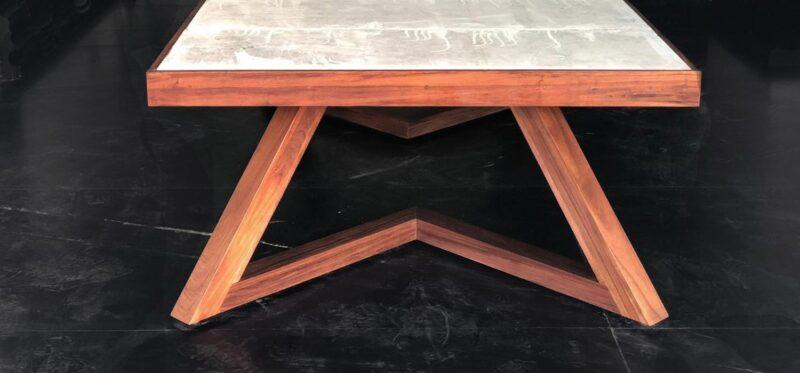 parota dining table stone