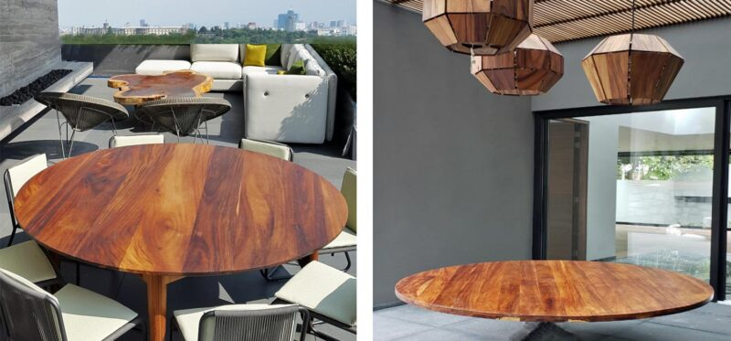 parota mesas comedores redonda modernas