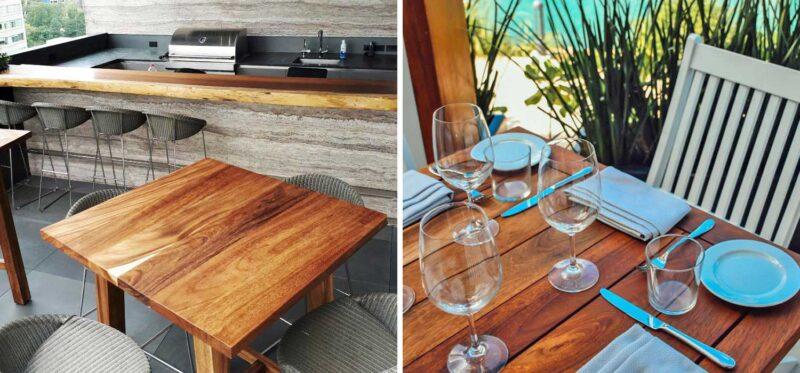 parota wood furniture patios