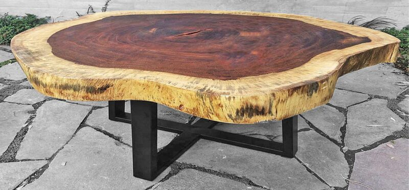 round parota slab table