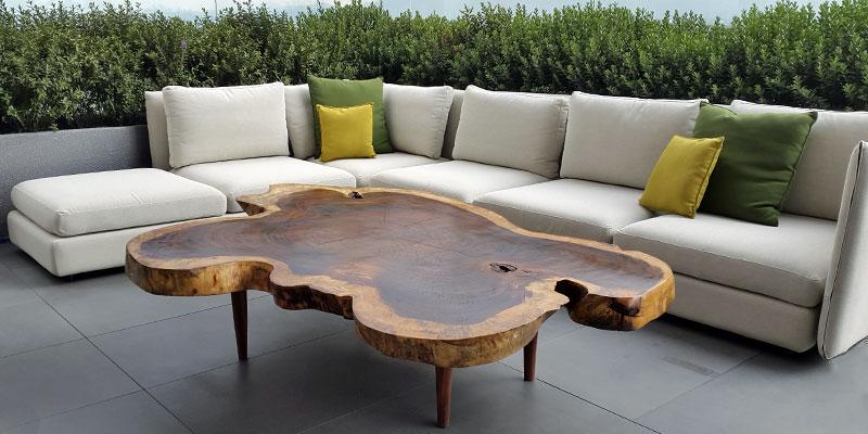 custom wood patio furniture table