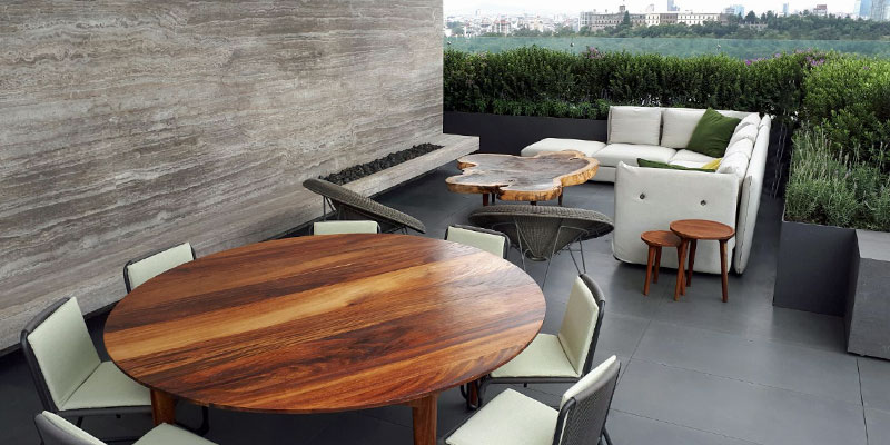 wood outdoor furniture balcony design mexico