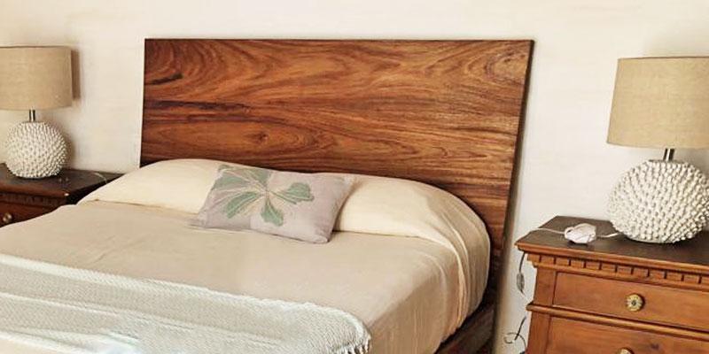 queen bedhead wood modern design